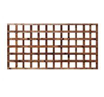 Buy weatherwell 6ft x 3ft garden Square trellis panel