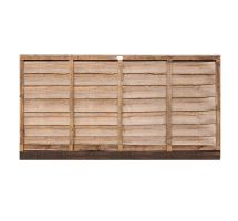 buy 6' x 3' Wooden Brown Lap Fence Panel Treated