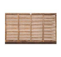buy 6' x 4' Wooden Brown Lap Fence Panel Treated