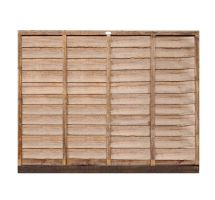 buy 6' x 5' Wooden Brown Lap Fence Panel Treated