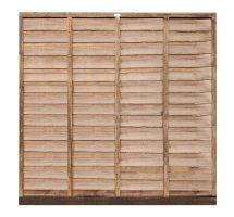 buy 6' x 6' Wooden Brown Lap Fence Panel Treated