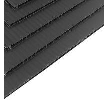 Correx Sheet 2mm 8x4 2400 x 1200mm Black Corrugated Plastic