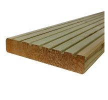 buy 26mm x 145mm Treated Timber Swedish Decking 4500mm