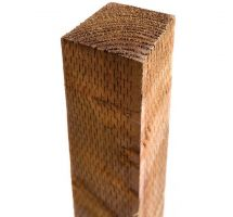 """Buy 3"""" x 3"""" x 6' Brown Treated Timber Fence Post Square"""