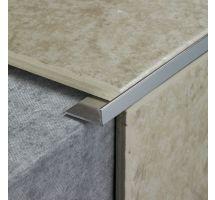 buy Draak 12mm Sliver Chrome Straight Edge Tile Trim 2.44 Meter