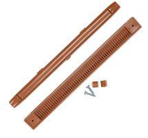 buy Draak 263mm Light Brown Window Trickle Slot Vent Internal & External With Fixings