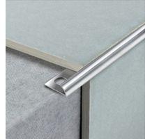 buy Draak 8mm Sliver Chrome Round Edge Tile Trim 2.44 Meter