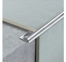 buy Draak 12mm Sliver Chrome Round Edge Tile Trim 2.44 Meter