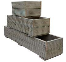 Buy 1200mm x 300mm x 400mm Swedish Pressure Treated Wooden Decking Planter